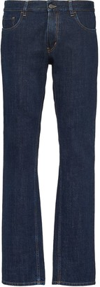 Prada washed effect straight leg jeans