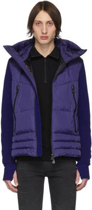 MONCLER GRENOBLE Blue Down Maglia Cardigan Jacket