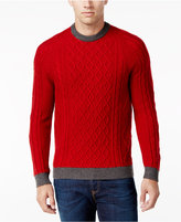 Club Room Men's Wool Blend Cable-Knit Sweater, Only at Macy's