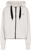 Thumbnail for your product : adidas by Stella McCartney Zip-up cotton-blend hoodie