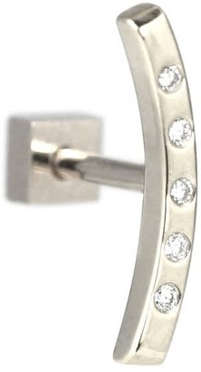 Lena Cohen Fine Jewellery 18K White Gold Bow Diamond Helix Stud