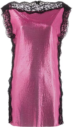 Christopher Kane Chainmail Lace Mini Dress