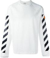 Moncler logo stripe jumper - men - Cotton - L