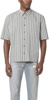Vince Narrow Stripe Short Sleeve Shirt