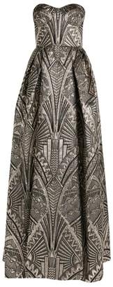 ZUHAIR MURAD Cityscape Jacquard Gown