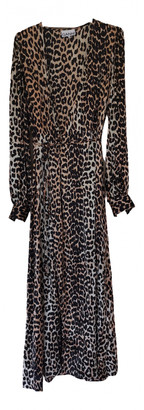 Ganni Spring Summer 2020 Brown Silk Dresses