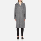 Alexander Wang Women's Oversized Trench Coat with Triple Snap Detail Gravel