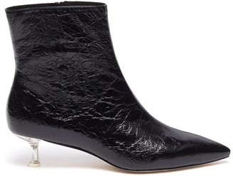 Pedder Red 'KIARA' Point Toe Heel Patent Leather Ankle Boots