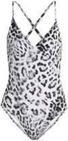 Norma Kamali Slip Mio leopard-print swimsuit