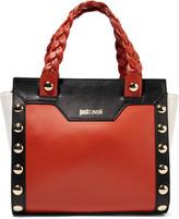 Just Cavalli Embellished color-block leather tote