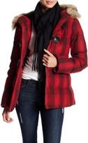 Pendleton Newport Genuine Coyote Fur Trim Wool Blend Coat