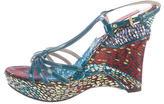 Missoni Patent Leather Wedge Sandals
