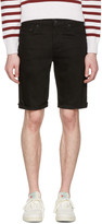 Levi's Black Denim Cut Off 511 Shorts