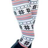 Paixpays Snowflakes Fawn Pants Stretchy Christmas Leggings PlusSize Pants Skinny