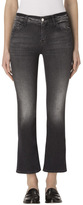 J Brand Selena Mid-Rise Crop Boot In Black Heath