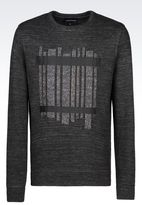 Emporio Armani Sweatshirt In Technical Fabric