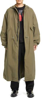 Raf Simons Long Hooded Parka with Removable Fleece Lining