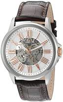 Lucien Piccard Men's 'Calypso' Stainless Steel and Leather Automatic Watch