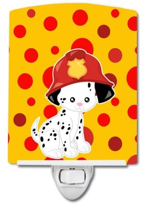Caroline's Treasures Fireman Dalmatian Puppy Ceramic Night Light