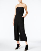 Bar III Strapless Wide-Leg Jumpsuit, Only at Macy's