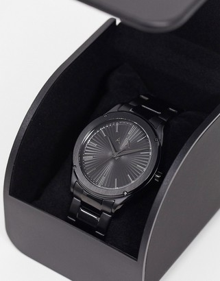 Armani Exchange Fitz black bracelet watch