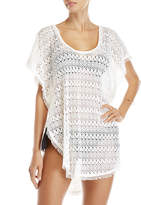 Hawaiian Tropic White Crochet Backless Cover-Up