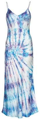 Dannijo Tie-Dye Silk Slip Dress