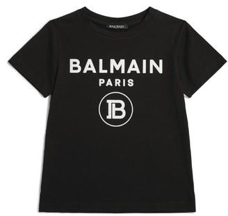 Balmain Kids Contrast Logo T-Shirt