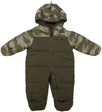 Osh Kosh Boys' Bunting Suits CAMO - Gray & Green Camo Snow Suit - Infant