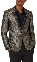 Topman Men's Skinny Fit Paisley Tuxedo Jacket