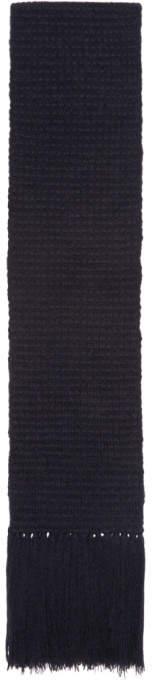 Stella McCartney Navy Knit Scarf