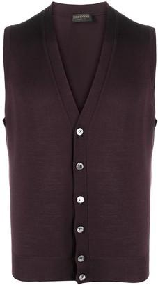 Dell'oglio sleeveless V-neck cardigan