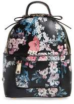 BP Mini Floral Faux Leather Mini Backpack - Black