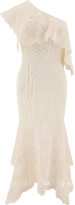Alexander McQueen One-Shoulder Ruffled Dress
