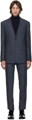 Maison Margiela Blue Two-Ply Wool Poplin Suit