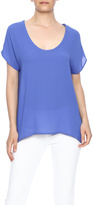 Lush Breezy Scoopneck Top
