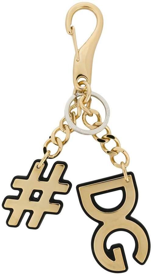 Dolce & Gabbana hashtag logo keyring