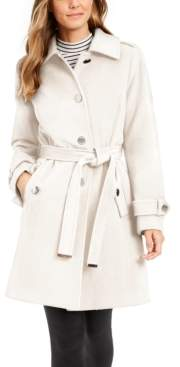 Michael Kors Michael Petite Single-Breasted Belted Coat