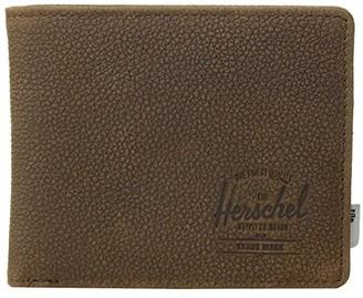 Herschel Roy + Tile (Brown Pebbled Nubuck) Wallet Handbags