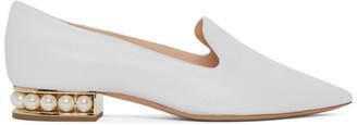 Nicholas Kirkwood White Casati Pearl Loafers