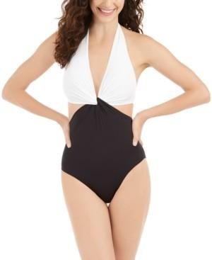 Kate Spade Twist Front One-Piece Swimsuit Women's Swimsuit