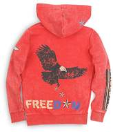 Butter Shoes Boys' Mineral Wash Freedom Hoodie - Big Kid