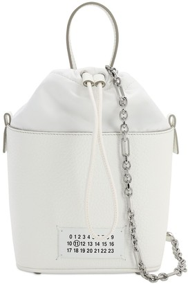 Maison Margiela Grained Leather Bucket Bag