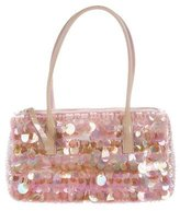 Prada Embellished Bauletto Handle Bag