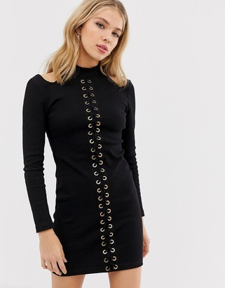 Glamorous bodycon dress with cut out detail