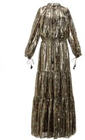 Altuzarra Currie Floral-print Metallic Silk-blend Gown - Womens - Black Gold
