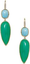 Ila Women's Pavia 14K Yellow Gold, Chrysoprase, Turquoise & 0.07 Total Ct. Diamond Drop Earrings