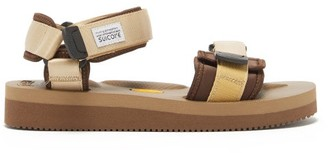 Suicoke Cel-v Two-strap Neoprene Sandals - Tan