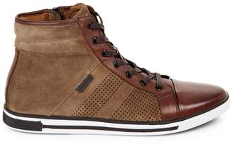 Kenneth Cole New York High-Top Leather Sneakers