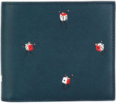 Paul Smith dice print billfold wallet - men - Cotton/Leather - One Size
